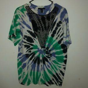 mesh cut-out tshirt